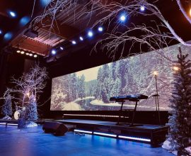 Cornerstone Christian Church Christmas Stage Design 2019 LED