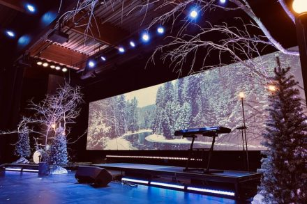 Cornerstone Christian Church Christmas Stage Design 2019 LED