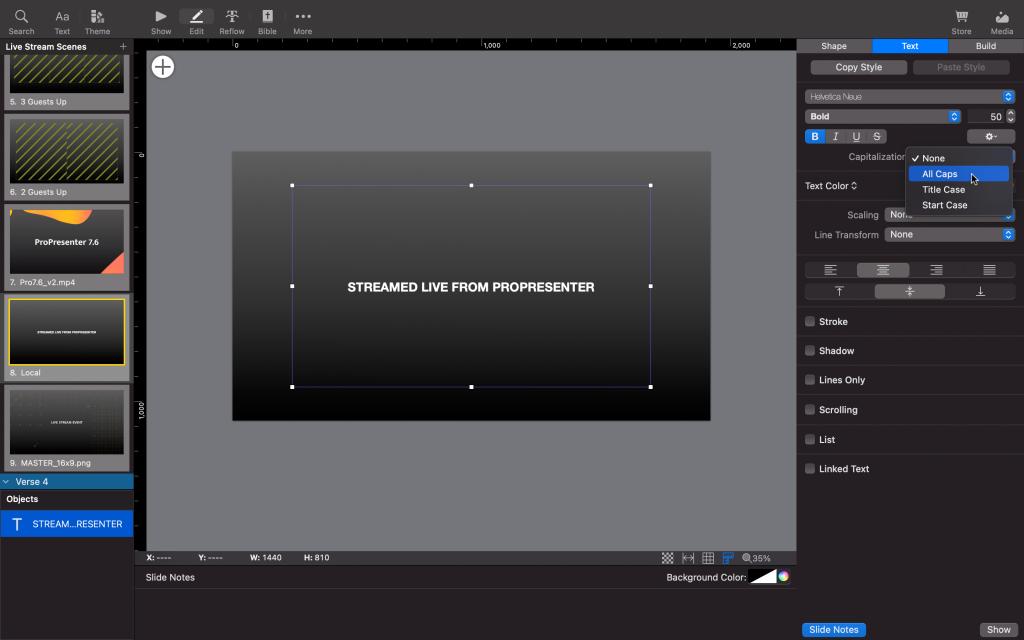Professional Presentation Software Editor