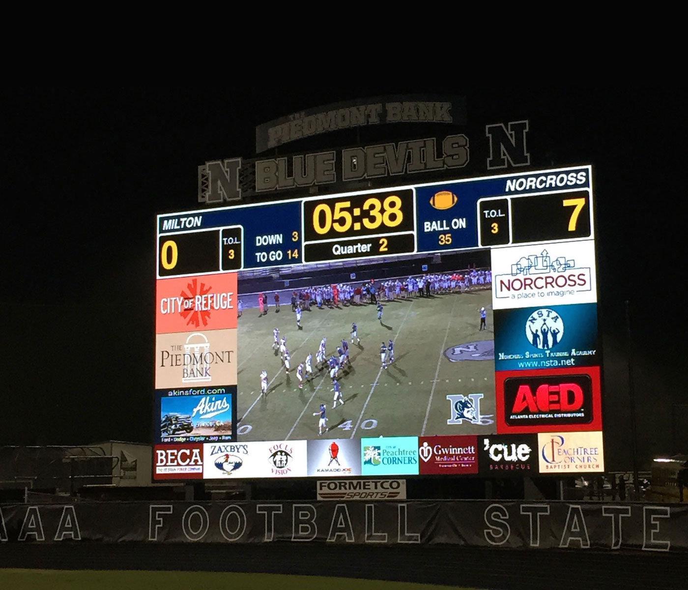 ProPresenter Scoreboard software at Norcross High School