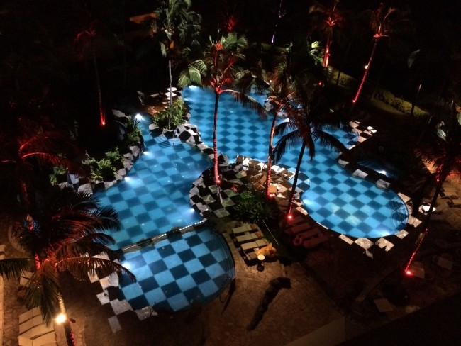 PVP projection mapping into Sheraton pool in Hawaii