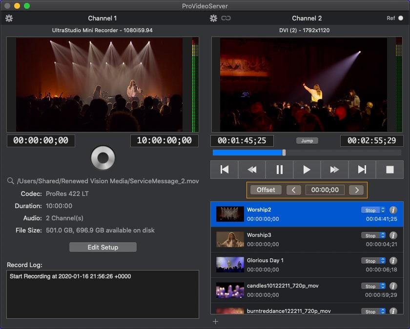 PVS 3: Recording