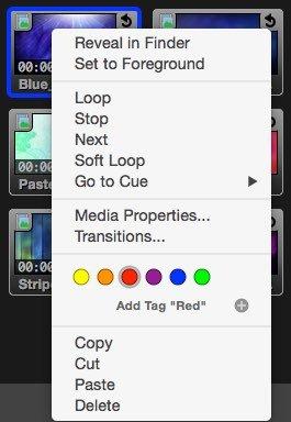Pro Video Image Tagging Menu