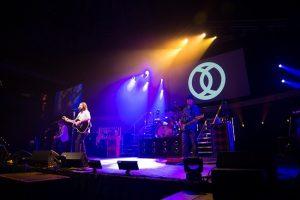 PVP media server and ProPresenter lyric software at live concert