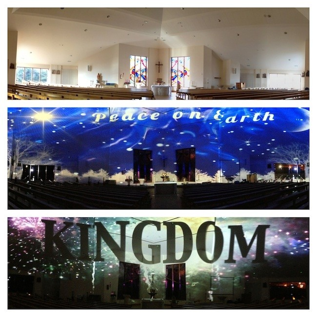 Environmental Projection in 3 Irish Churches