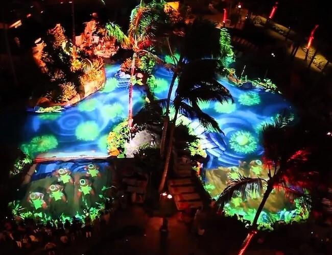 Sheraton Waikiki 4D Pool Projection