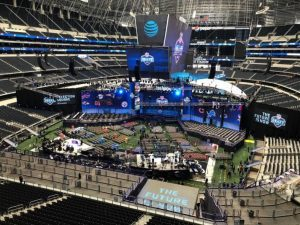 PVP multi-screen media server and ProPresenter at the NFL Draft in 2018