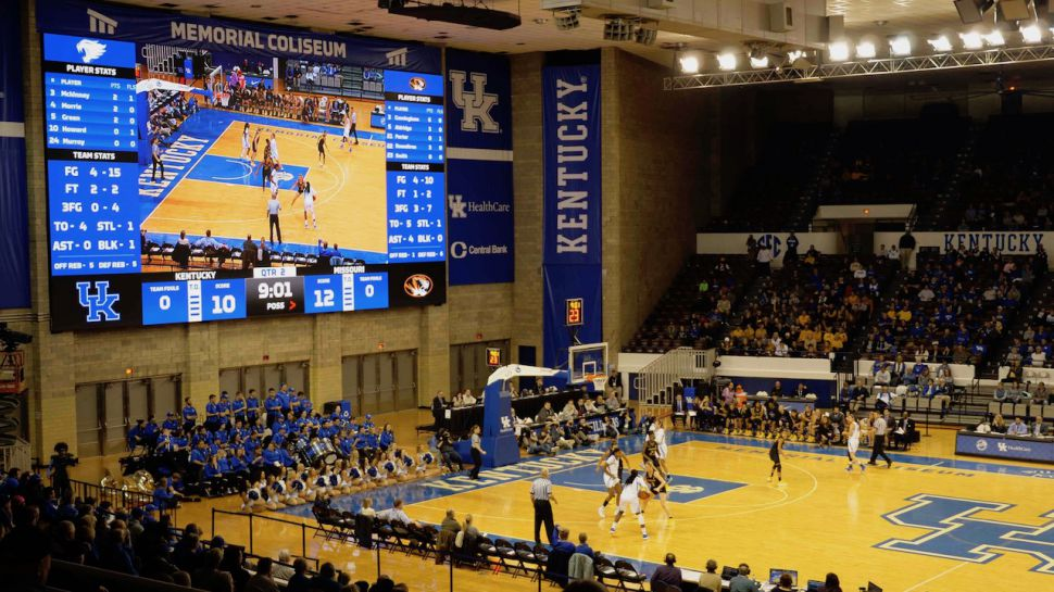 Kentucky University installation of ProPresenter Scoreboard and PVP media server and screen mapping software