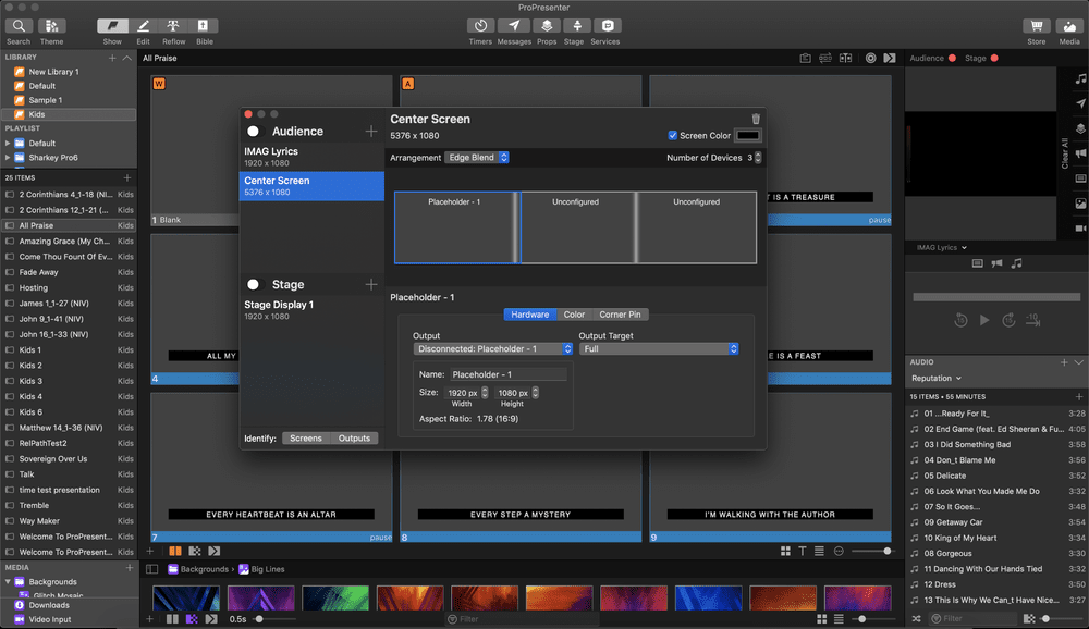 Learn about the new features of ProPresenter 7 Presentation Software