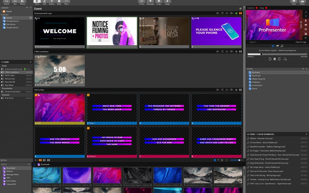 ProPresenter 7 From Renewed Vision Now Available