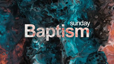 Pro template baptism - walk in slide with text