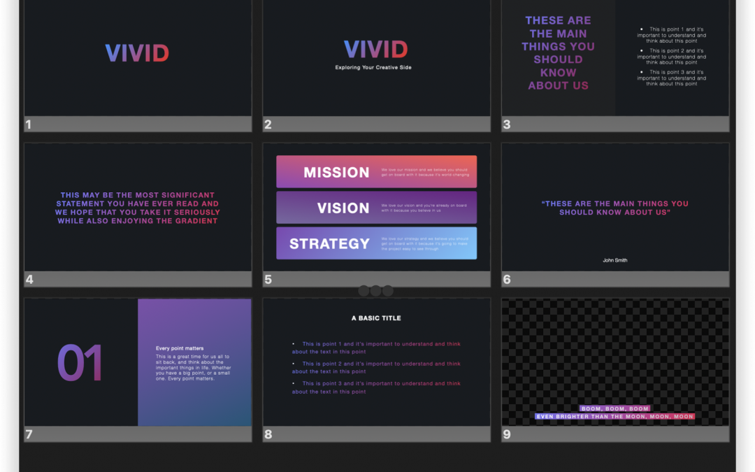 Vivid Dark ProPresenter Theme