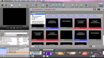 ProPresenter 5 Groups and Arrangements